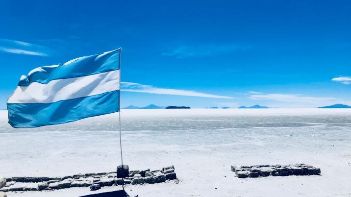 Salar de Uyuni, Blau-Weiss