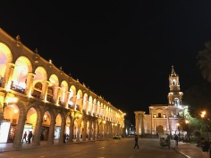 Arequipa⁩, ⁨Plaza de Armas by night 2