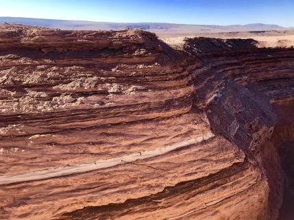 San Pedro de Atacama, Valle de la Muerte Gesteinsschichten