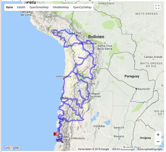 Südamerika, Route.jpeg