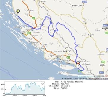 7.Tag: Karlobag-Makarska