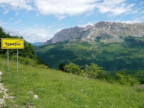 Bosnien, Grenze zu Montenegro. saukalt wars Ende Mai