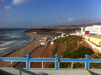 Sidi Ifni, Aussicht vom Hotel Belle Vue