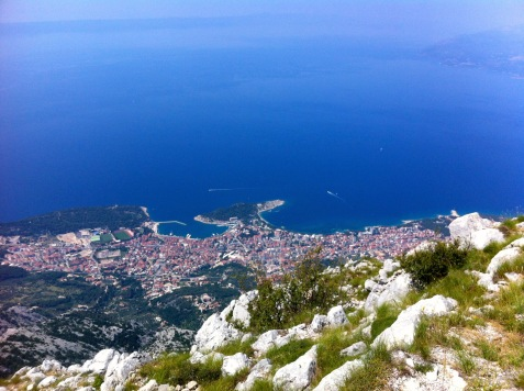 hoch über Makarska