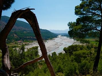 Saklikent, das Flussbett nach Canyon