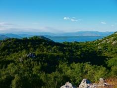 Shkoder See, aus Montenegro Blickrichtung Albanien