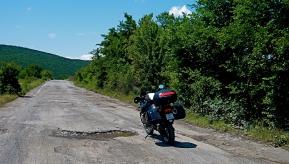 bulgarische Strassenverhältnisse