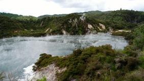 Waimangu, dampfender See