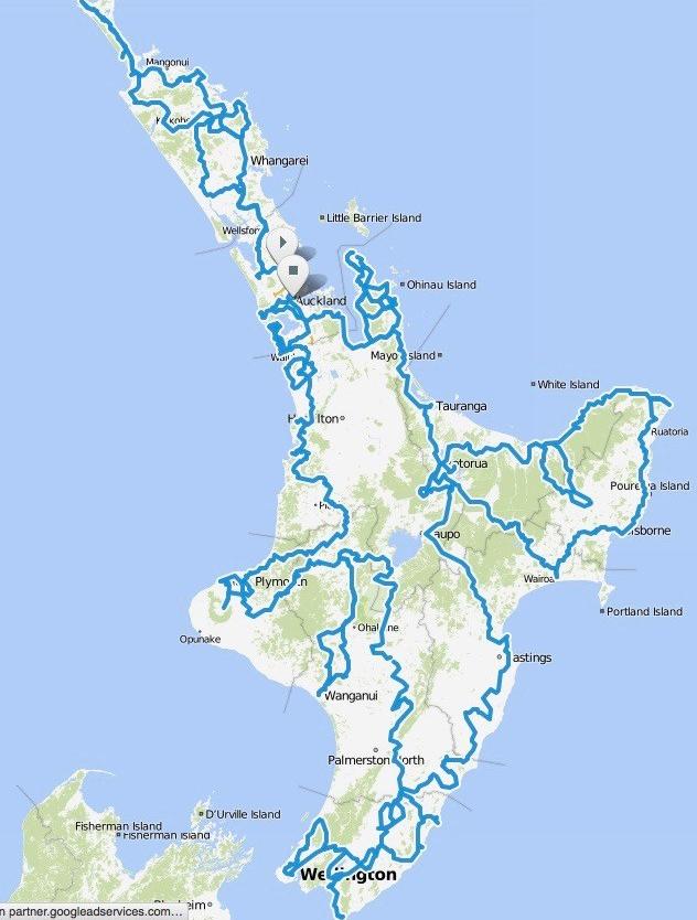 Uebersicht Neuseeland 2014:2015 Nordinsel