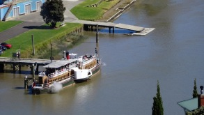 "Wanganui, Paddle Steamer ""Waimarie"""